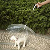 Favorite Transparent Umbrella for Dogs Keeps Your Dog Dry and Comfortable in Rain