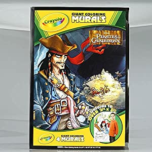 Amazon.com: Crayola Giant Coloring Mural Disney Pirates of ...