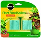 Miracle-Gro 300157 Indoor Plant Food, 48-Spikes (Plant Fertilizer)