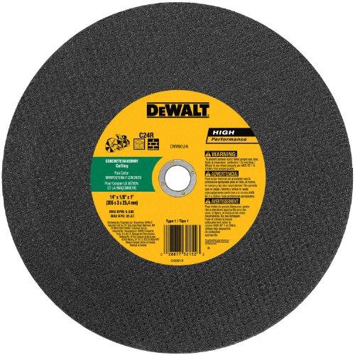 DEWALT DW8025 14-Inch by 1/8-Inch C24P Abrasive Concrete/Masonry Cutting Wheel