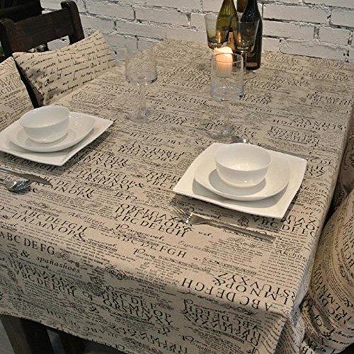 Cj Fashion Newspaper Printed Burlap Vintage Dinner Table