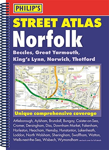 philips-street-atlas-norfolk-county-map-book-all-roads-and-streets-with-postcodes-national-grid-coor