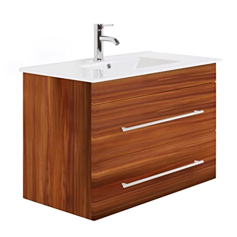 Infinity 900 Bathroom Furniture Walnut Semi-Gloss