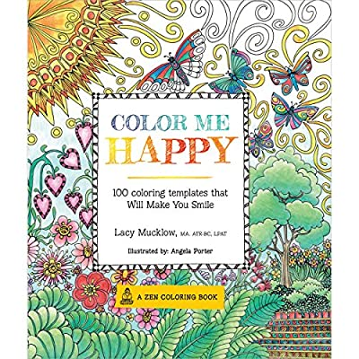 Color Me Happy: 100 Coloring Templates that Will Make You Smile (Coloring for Thinkers)