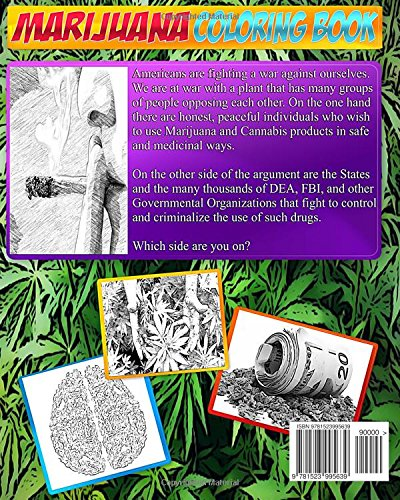 The Marijuana Coloring Book: The Coloring Book of Marijuana, Weed, Cannabis & Ganj: Volume 8 (Adult Coloring Books & Coloring Books for Children)
