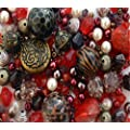 Approx  215 x Tribal Red Jewellery Making Starter Beads Mix Set