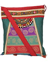 Ethnics Of Kutch Women's Multi-Coloured COLLAGE Bag With Traditional Kutch Handicraft Handwork Embroidary And...