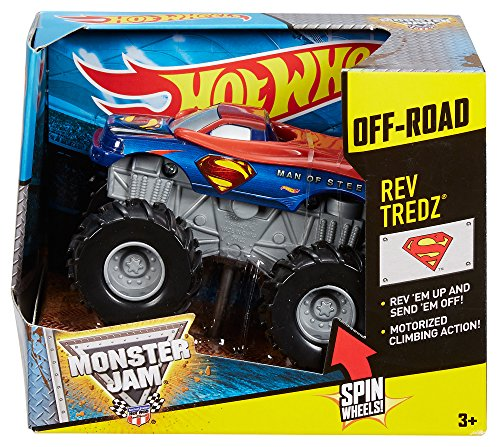 Hot Wheels Monster Jam Rev Tredz Superman Vehicle - 1