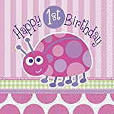 Ladybird 1st Birthday Paper Napkins, Pack of 16