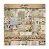 Wallflower Paper Stash by Tim Holtz Idea-ology, 36 Sheets, Double-Sided Cardstock, Various Sizes, Multicolored, TH93110