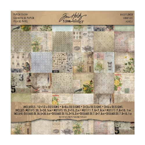 tim-holtz-idea-ology-wall-flower-paper-stash-pad-pack-of-36