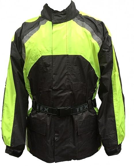 noir et haute visibilité moto veste imperméable