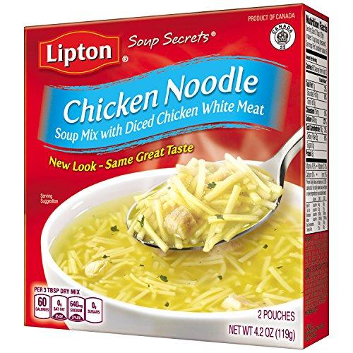Lipton Soup Secrets Soup Mix, Chicken Noodle, 4.2 oz (Pack of 12, 2 Pouches Each) (Lipton Soup Chicken Noodle compare prices)