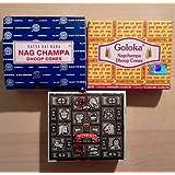 Nag Champa Räucherkegel 3er Set - Nag Champa, Superhit, Goloka