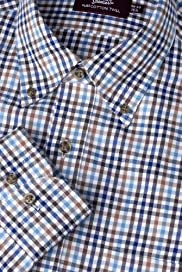 Sartorial Pure Cotton Traditional Checked Twill Shirt [T11-1909C-S]