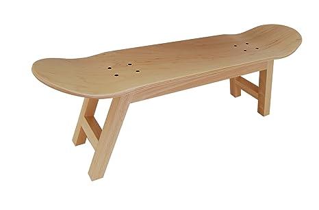 Taburete decoracion para habitaciones infantiles,asiento silla o zapatero para tus Vans DC Nike, color madera natural