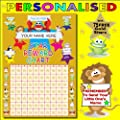 A4 Personalised Childrens Reward Chart With 75 Free Gold Metallic Stars..Remember To Tell Us The Name You Would Like To Be Printed On The Reward Chart THANK YOU..