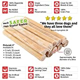 Raw Paws Pet Premium 10-inch Compressed Rawhide Sticks for Dogs, 5-count - Packed in the USA, 100% All-Natural, Odor Free, Safe Dog Chews
