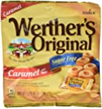 Werther's, Caramel Sugar Free Hard Candy, Original, 2.75 Ounce (Pack of 4)