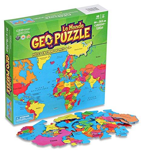 Geotoys GeoPuzzle World (French) - 1
