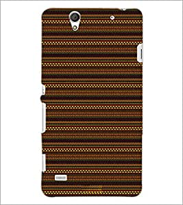 PrintDhaba Tribal pattern D-1875 Back Case Cover for SONY XPERIA C4 (Multi-Coloured)