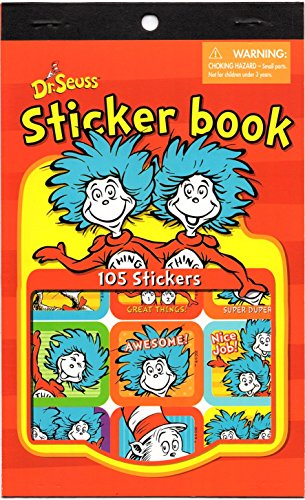 Dr Seuss Cat in the Hat Thing 1 and Thing 2 Reward Sticker Book (105 Stickers) (Cat In The Hat Thing 1)