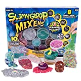 Slimygloop Mix'Ems by Horizon Group USA-Mix & Create 10 Different Gooey, Putty, Slime with Pompoms, Sequins, Confetti & 3 Mystery Collectibles, Multicolor, One Size (Color: Multicolor, Tamaño: One Size)
