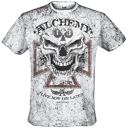 Alchemy England Reaper Cross T-Shirt bianco S