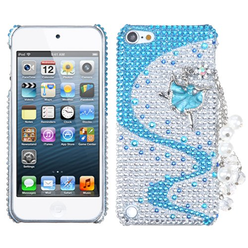 Snap on Cover Fits Apple iPod Touch 5 (5th Generation) Ballerina Chain Premium 3D Diamond Back (Please carefully check your device model to order the correct version.) 5pcs lot high quality 2 pin snap in on off position snap boat button switch 12v 110v 250v t1405 p0 5