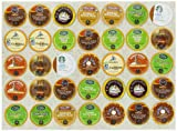 Crazy Cups Decaf Coffee Gift Sampler, Single-cup coffee pack sampler for Keurig K-Cup Brewers, 35-Count
