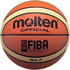 Molten BGL7 Leather Basketball, Official Basketball of FIBA by Molten