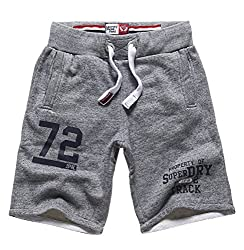 Superdry Men's Cotton Shorts (5054265687983_M71005XNF2_L_Pearl Blue Grindle)