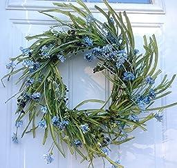 Blue Cornflower Wreath