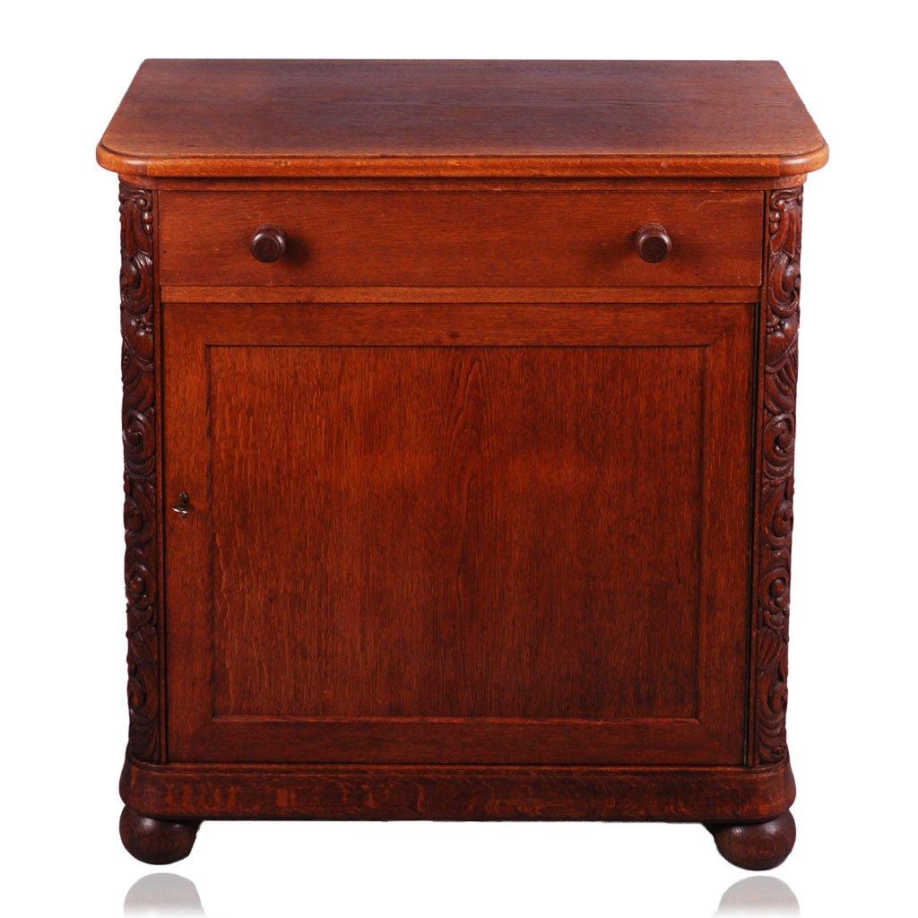 Antik Eiche Kommode | Sideboard | Nachttisch | Nachtschrank | Nachtkonsole | um 1900