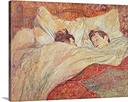 Gallery-Wrapped Canvas entitled The Bed, c.1892 95 (oil on cardboard)