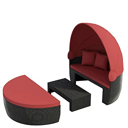 Bozen Garden Day Bed Black / Red