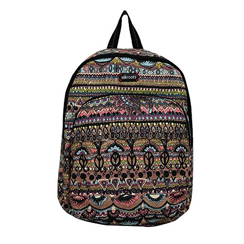 Sakroots Women's Artist Circle Medium Backpack Taupe One World