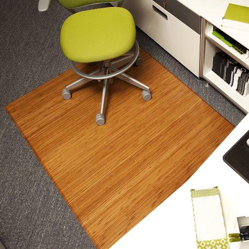 Anji Mountain AMB0500 1008 Bamboo Tri Fold Plush No Lip Chairmat Natural 47