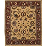 """Nourison Tahoe (TA08) Gold Rectangle Area Rug, 3-Feet 9-Inches by 5-Feet 9-Inches (3'9"""" x 5'9"""")"""