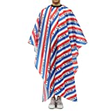 Hairdressing Gown Barber Cape, Unisex Waterproof Hair Salon Cape with Snap Closure (A) (Color: A, Tamaño: 61x55 inch)