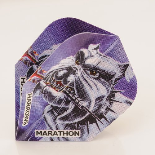 1 x Set of Harrows Marathon British Bulldog Dart Flights, Standard Shape (Bulldog Dart Board compare prices)