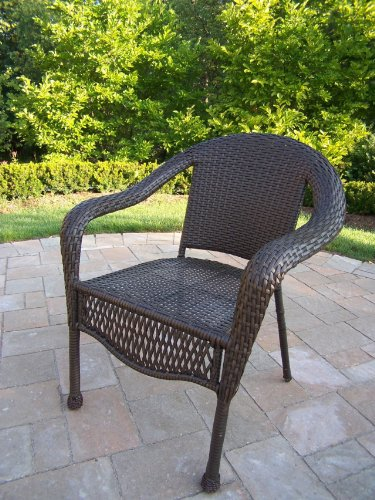 Oakland Living Elite Resin Wicker Chair, Pack 4 picture