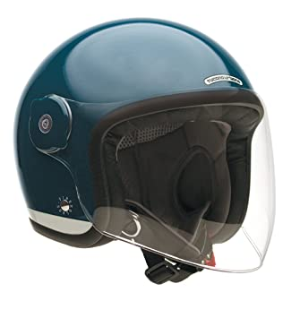 Tucano urbano 1100433 eL'fibreglass mET casque double usage, with or without visor deep bleu-taille s