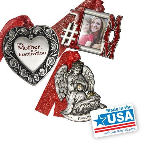 Personalized Gloria Duchin Mother's Christmas Ornament 3-Piece Set