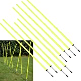 Bluedot Trading Soccer Agility Training Poles (8 Poles), 5' 8-1/4