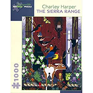 Amazon.com: Charley Harper 1000 Piece Puzzle The Sierra Range: Toys