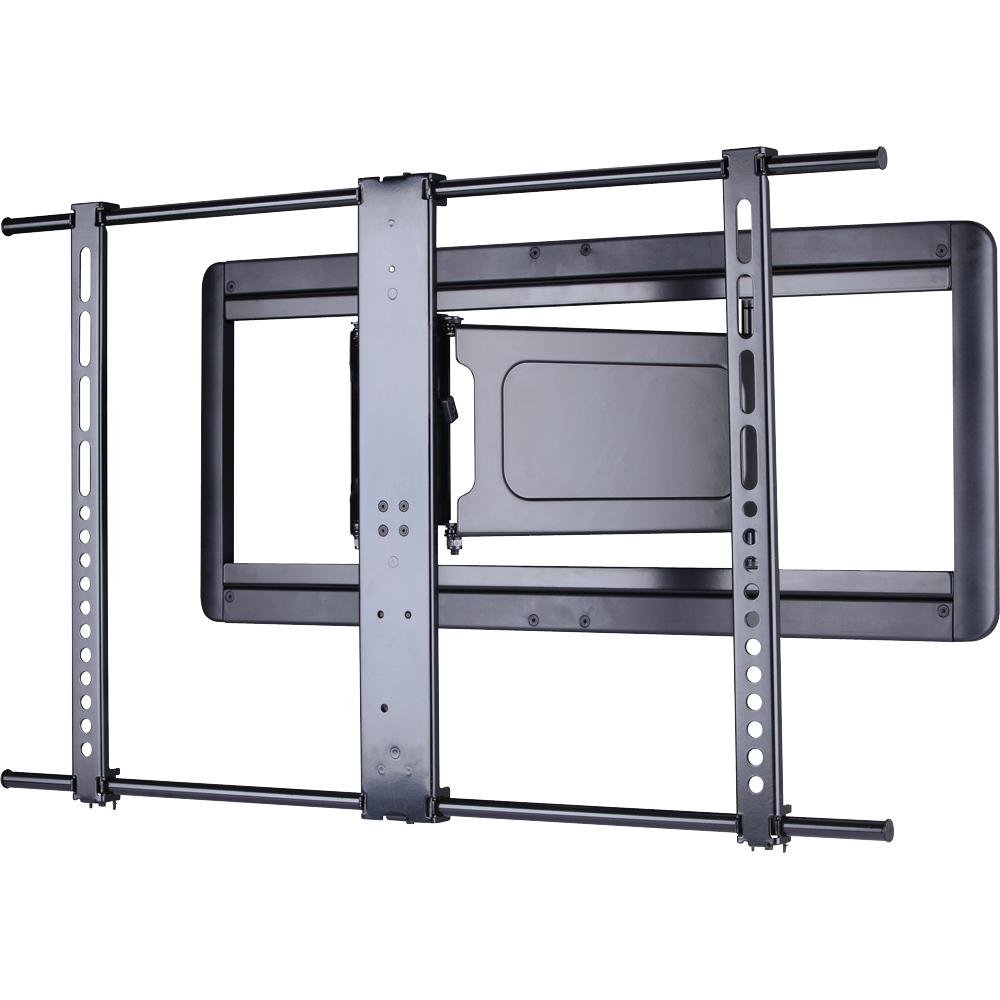 sanus vlf410 b1 super slim full motion wall mount for 37 to 84 flat pan. Black Bedroom Furniture Sets. Home Design Ideas