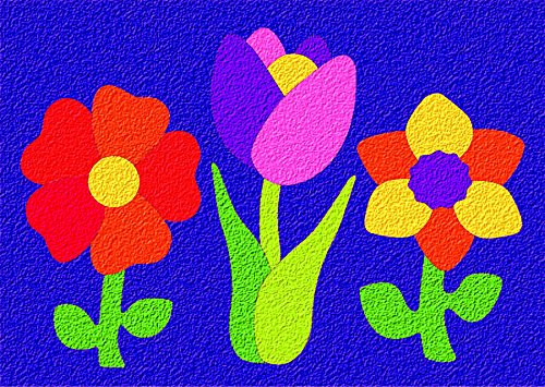 Lauri Crepe Rubber Puzzle - Flowers - 1