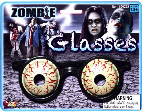 Forum Novelties Zombie Costume 3D Glasses Bloody Eyeballs