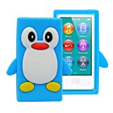 iPod Nano 7 Case, iPod Nano 8 Case, FiveBox 3d Penguin Soft Silicone Rubber Skin Shell Case Cover for Apple iPod Nano 7th 8th Generation 7G 16GB(Light Blue) (Color: Light Blue)